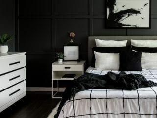Monochrome Modern Bedroom Reveal