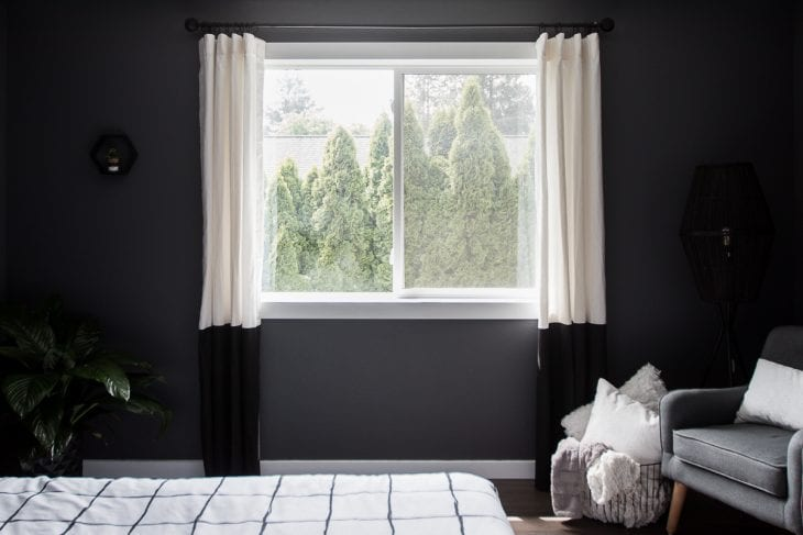 Color blocked curtains image