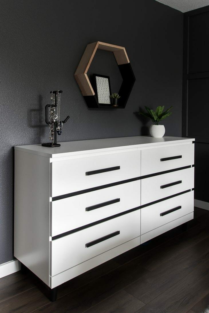 Malm dresser makeover
