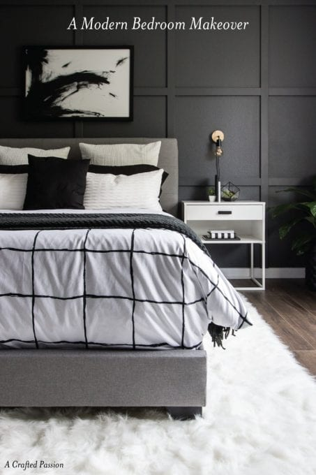 Monochrome Modern Bedroom pin