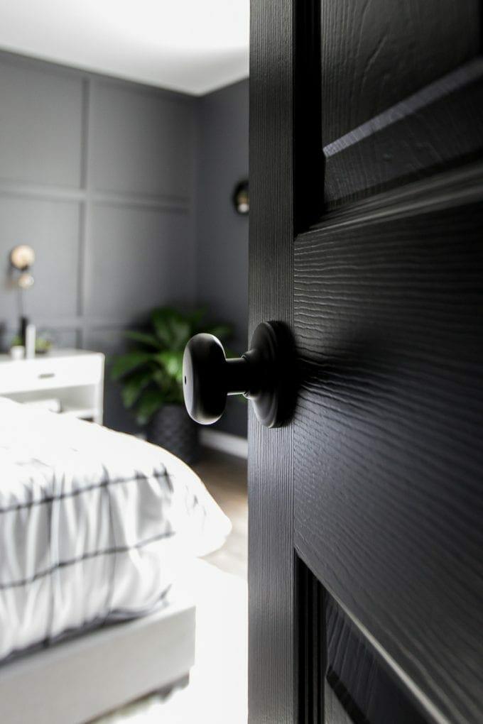 Door to modern bedroom image