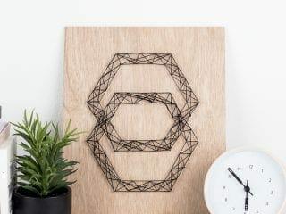 DIY Modern String Art