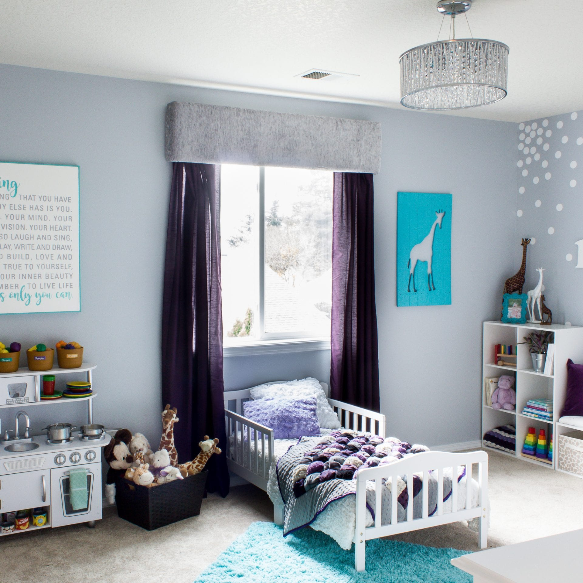 A Cute Toddler Girl Bedroom with Many