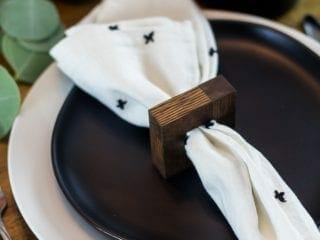 DIY Modern Wood Napkin Rings