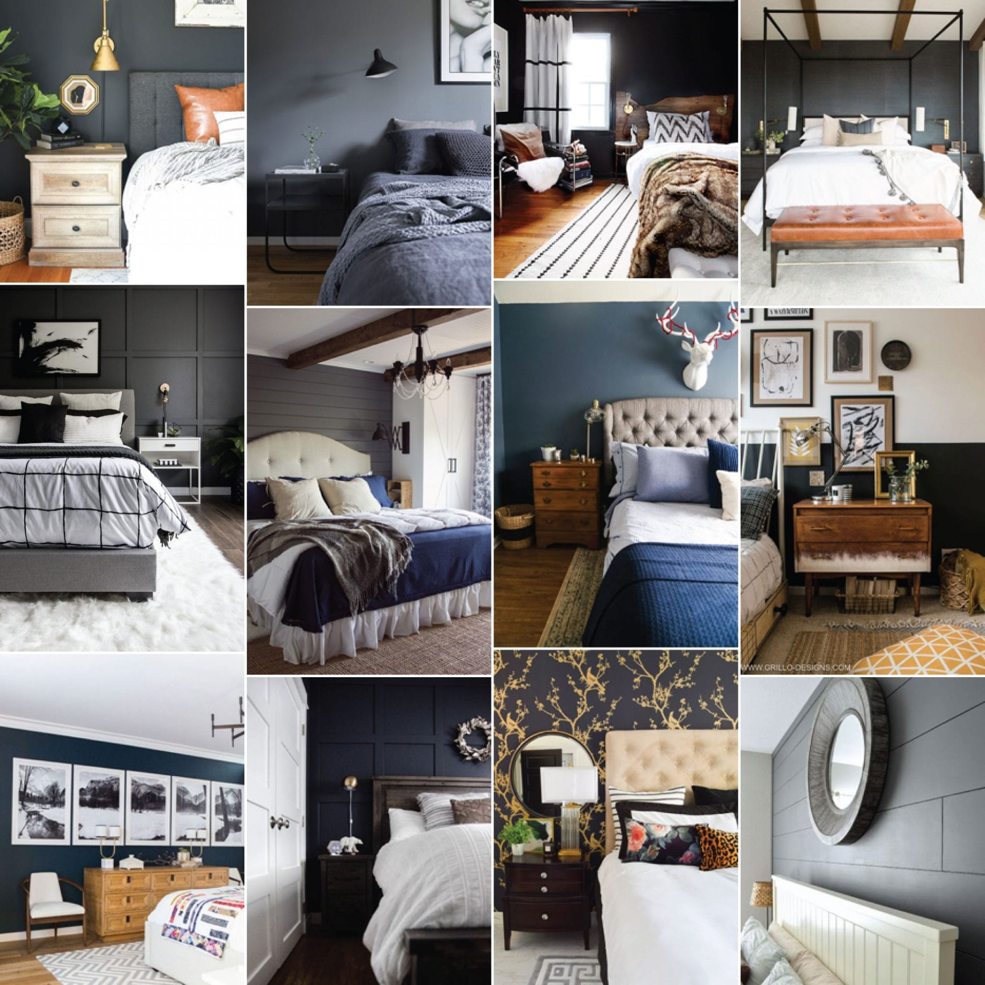 8 Gorgeous Master Bedrooms with Dark Walls  Home Improvement