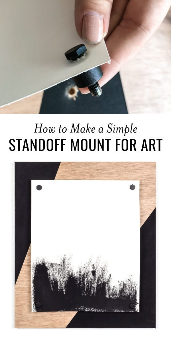 DIY Standoff Mount pinnable image