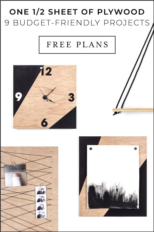 No matter your skills or budget, get the 'Thrifty Ply' plans to DIY your home decor on a budget today! Make ALL 9 of these home decor projects with just one half sheet of plywood!! #diy #homedecor #cheap #onabudget #diyhome