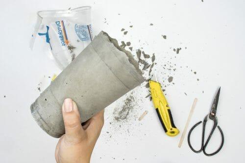 Image of concrete vase shave