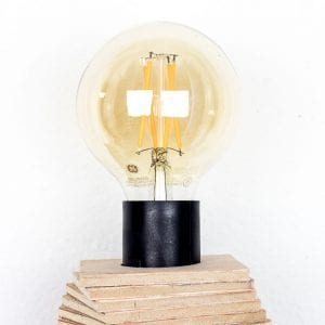 Image of DIy desk lamp bulb