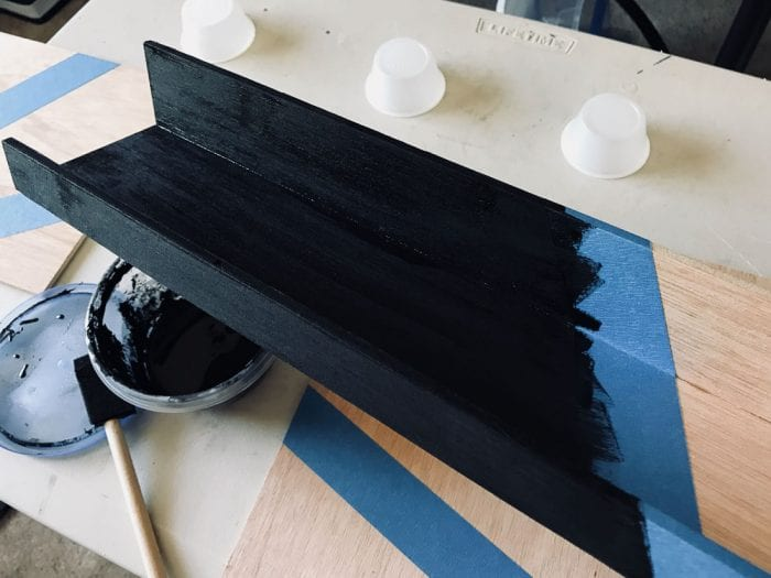 Image of picture ledge paint