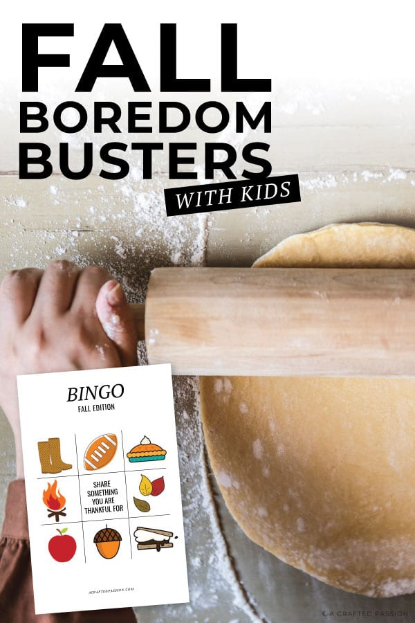 Break the kids boredom this fall with these fantastic fall activities for kids. Perfect for toddlers or preschoolers, these indoor and outdoor craft ideas will keep them busy. Grab your free printables to get started. #boredombuster #fallactivites #kidcrafts