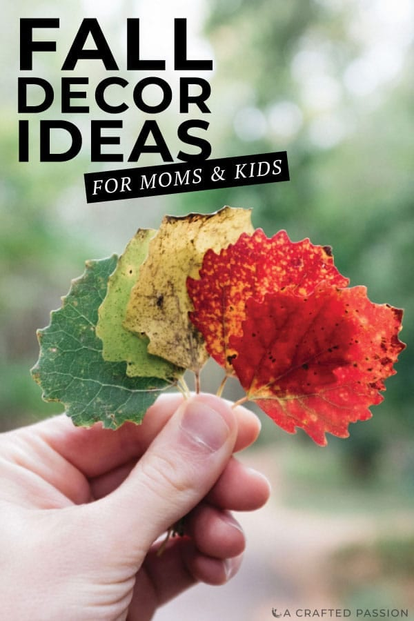 Let the kids help decorate for fall with all these fun ideas to do on a budget using things found outside and simple DIY ideas. #falldecor