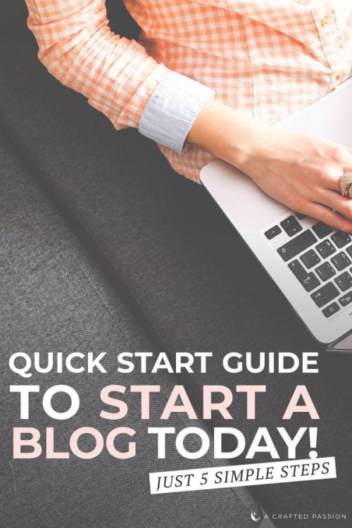 Learn how to start a blog in just 5 simple steps and have it up and running in just an hour! This step by step quick start guide is perfect for beginners to start sharing what they're passionate about. #howtostartablog #makemoney #selfhostedblog