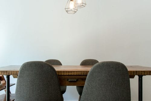 Image of dining chairs gray