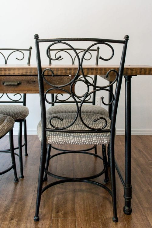 Image of modern dining chairs old