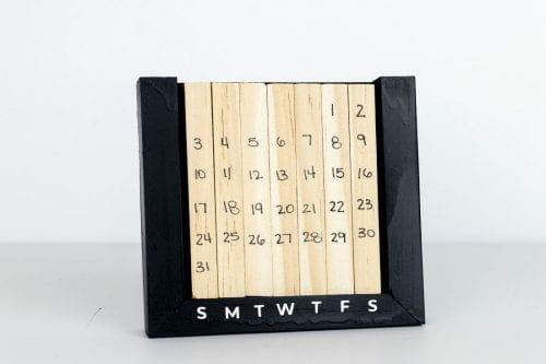Image of Perpetual Desk Calendar Front