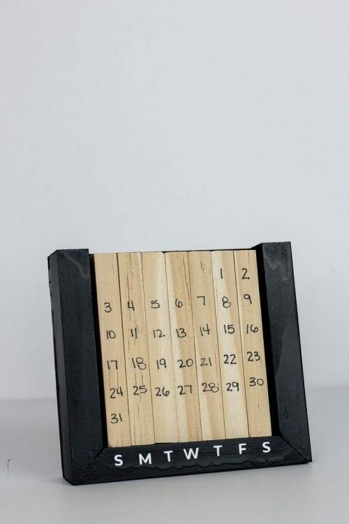 Image of Perpetual Desk Calendar Wood