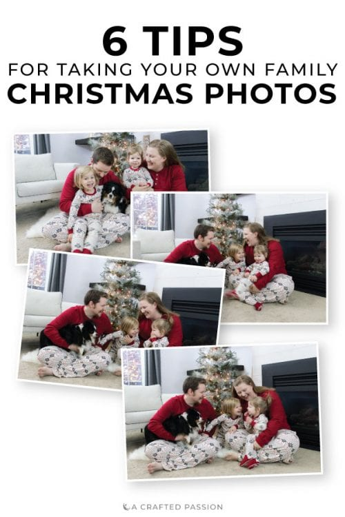 Image of DIY Family Christmas photos pin