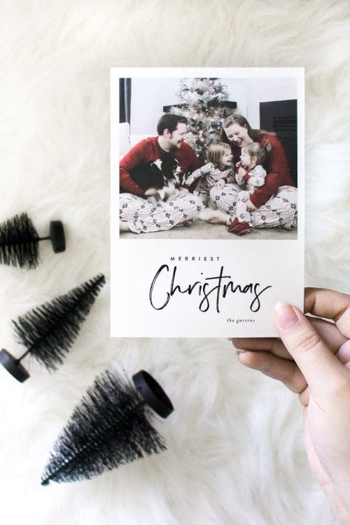 Image of Christmas card photo from Minted