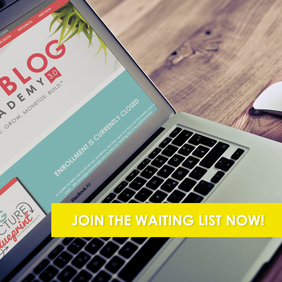 Join the waitlist for Elite Blog Academy