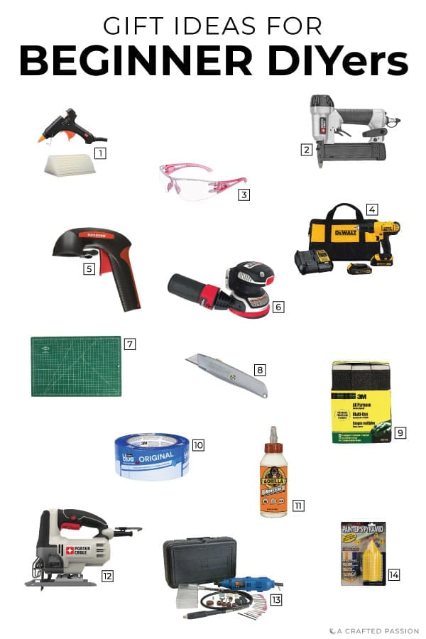 These gifts for DIYers are perfect for any beginner looking to grow their tool collection or get started creating with their hands. Check out this gift guide to buy for the person on your list. #giftideas #diyer