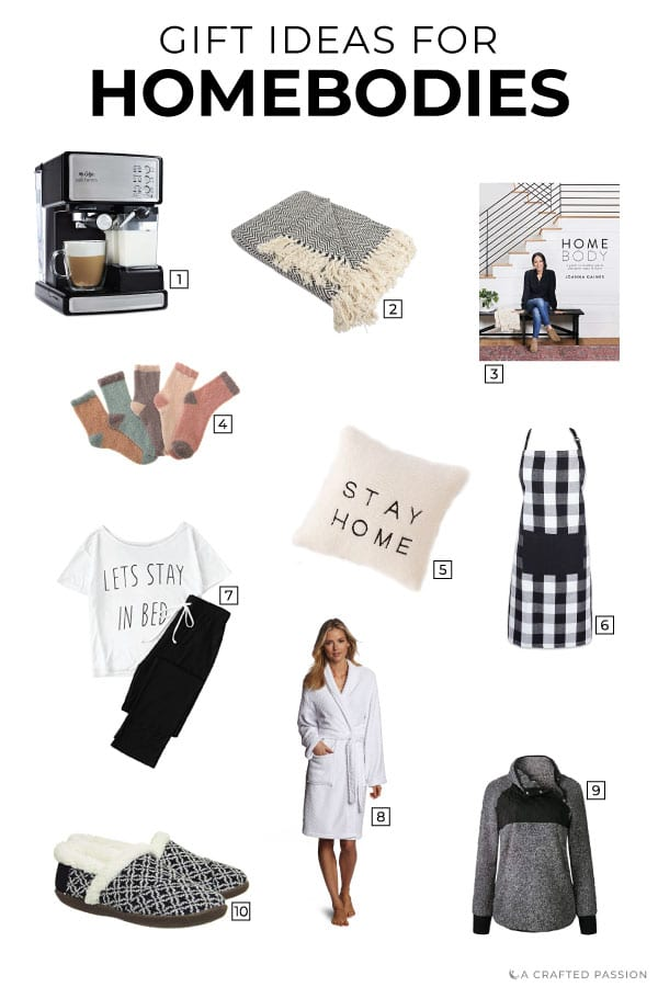 For the person who enjoys staying home, slips into sweatpants within a minute of getting home, and is often snuggled up in a blanket...this gift guide is for them. These gifts for homebodies are perfect for the person who enjoys the simple pleasures of being at home. #giftguide #gifts #homebody