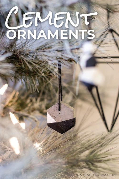 Make these homemade Christmas tree ornaments to decorate your tree. The modern homemade snowman ornaments are too cute and the simple cement ornaments are perfect for any minimalists Christmas tree. #diychristmasornament #Christmasornaments #homemadeornaments