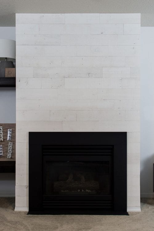 Image of Stikwood on fireplace surround