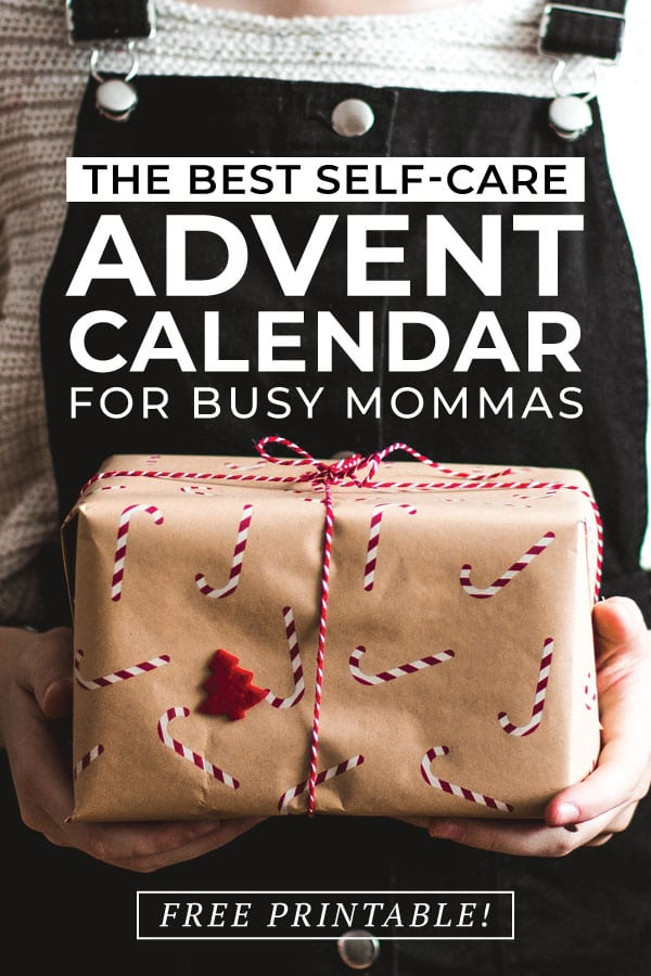 Self-care advent calendar ideas for moms