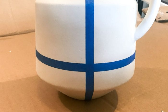Image of stoneware jug makeover tape