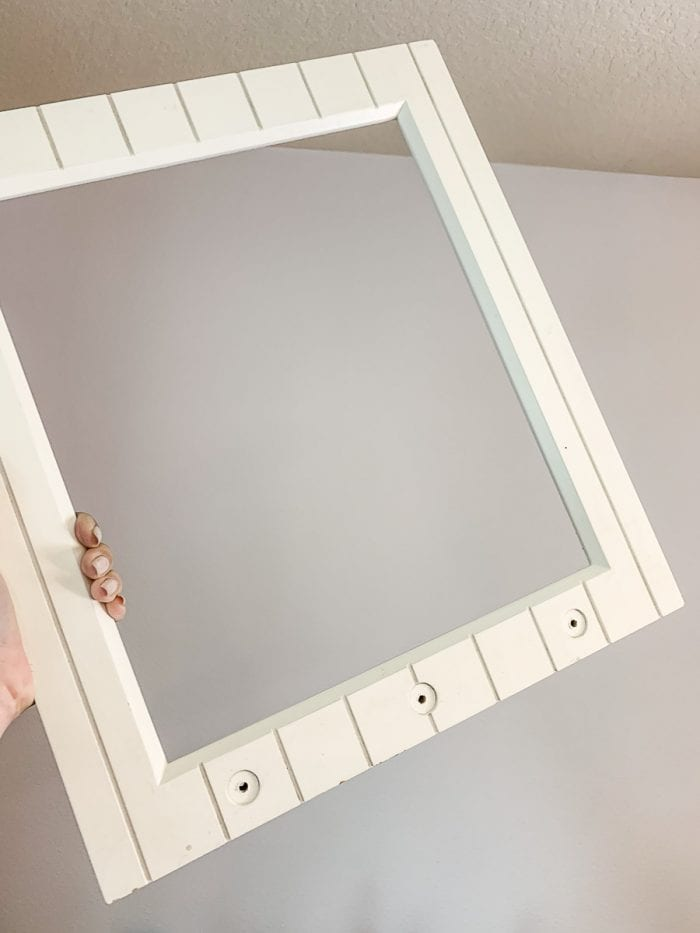 Image of little girl dress up mirror frame