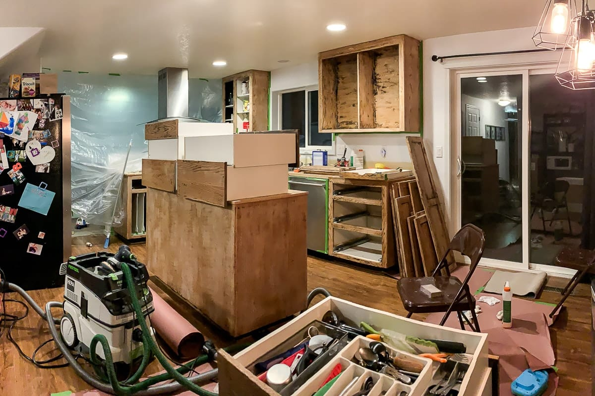 Image of kitchen mid-renovation