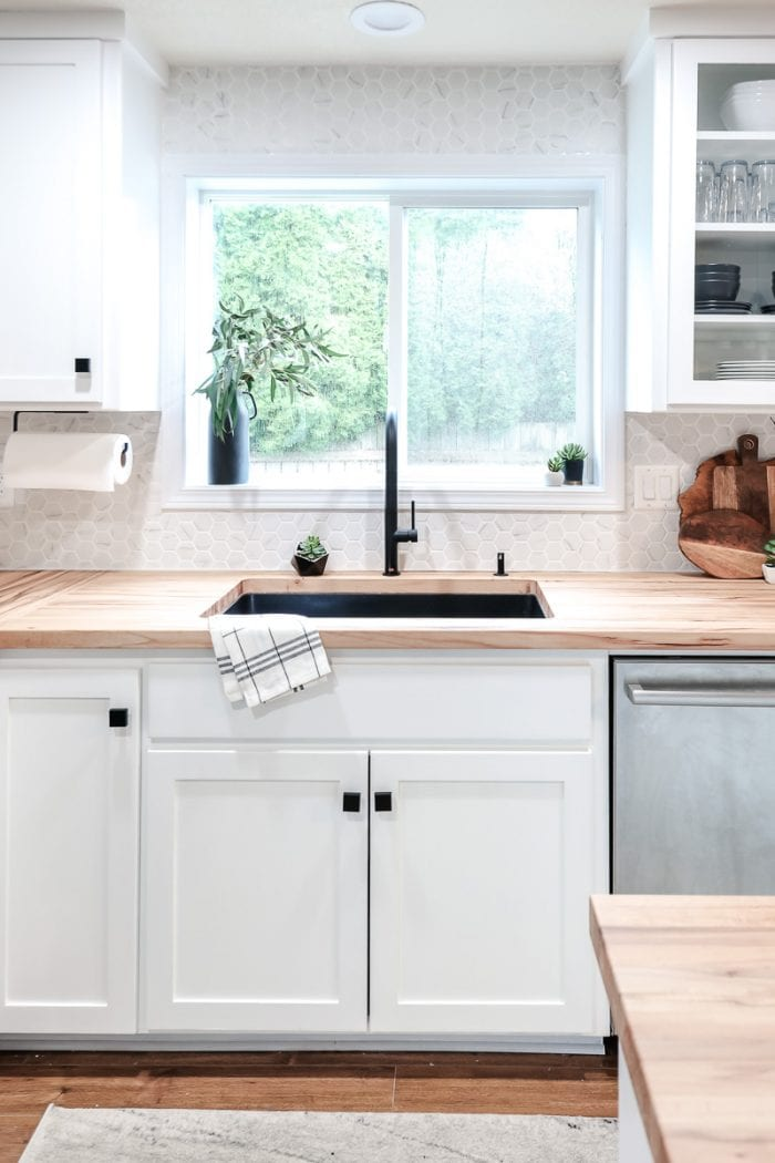 Image of modern kitchen sink