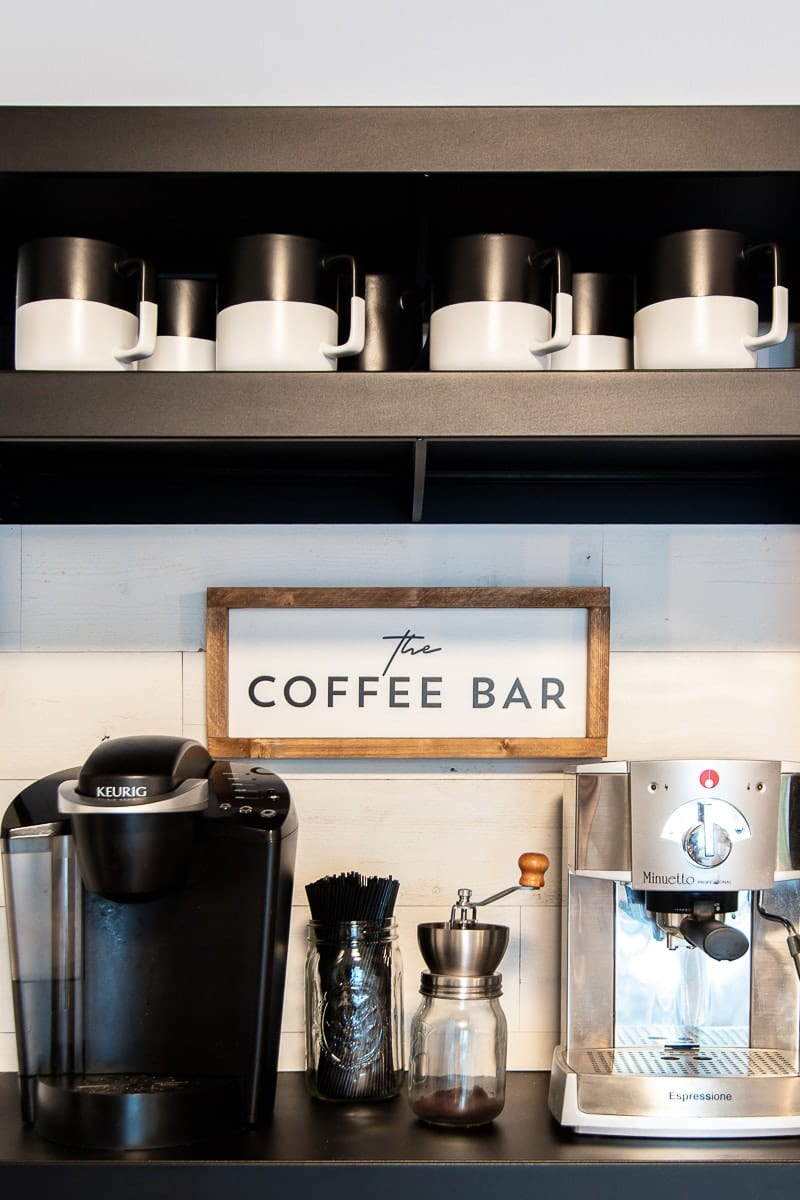 Image of coffee bar in modern kitchen