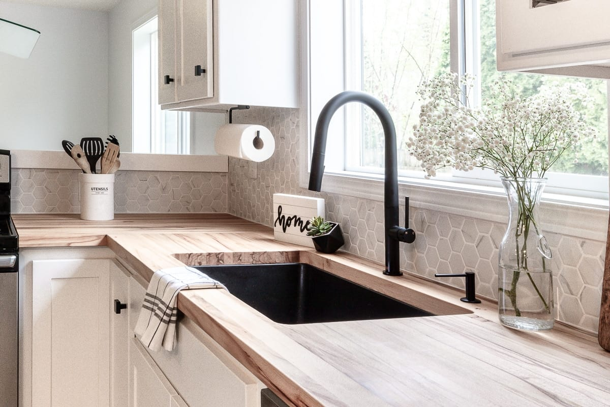 Image of sink in modern kitchen renovation