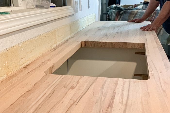 Sink template in plywood